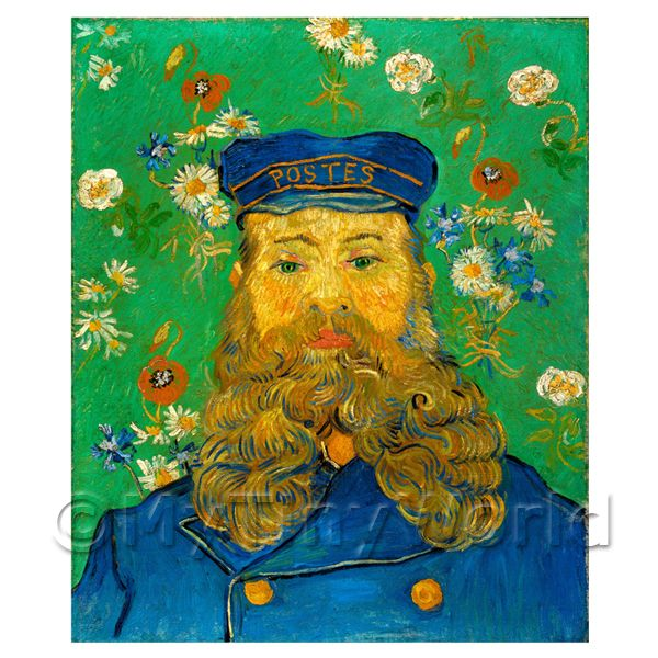 1/12 Scale Dolls House Miniatures  | Van Gogh Painting Portrait of Joseph Roulin No.2
