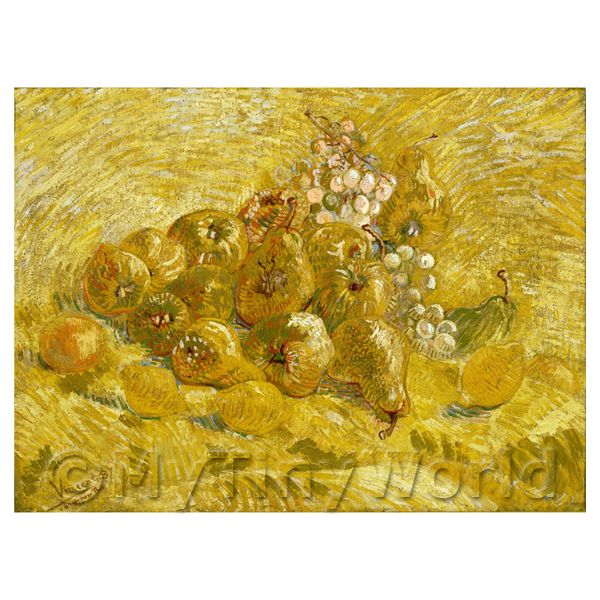 Van Gogh Painting Still Life With Grapes, Pears and Lemons
