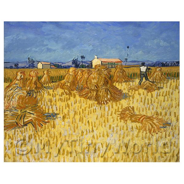 Van Gogh Painting Harvest in Provence
