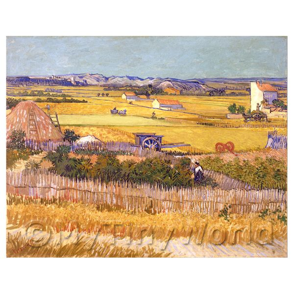 1/12 Scale Dolls House Miniatures  | Van Gogh Painting The Harvest