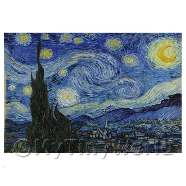1/12 Scale Dolls House Miniatures  | Van Gogh Painting The Starry Night