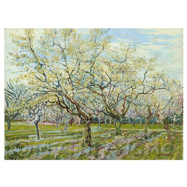 1/12 Scale Dolls House Miniatures  | Van Gogh Painting White Orchard in Blossom