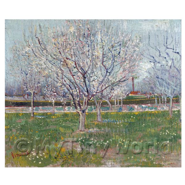Dolls House Miniature  | Van Gogh Painting Orchard in Blossom (Plum Trees)