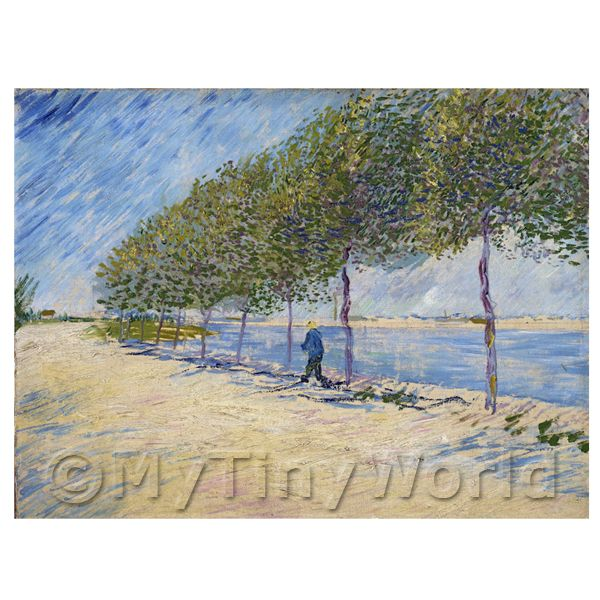 1/12 Scale Dolls House Miniatures  | Van Gogh Painting Walk Along The Banks of the River Seine