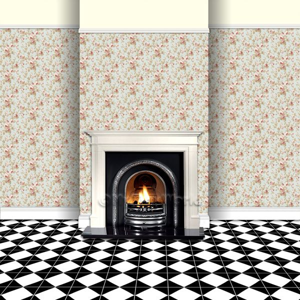 wallpaper on chimney breast to show scale