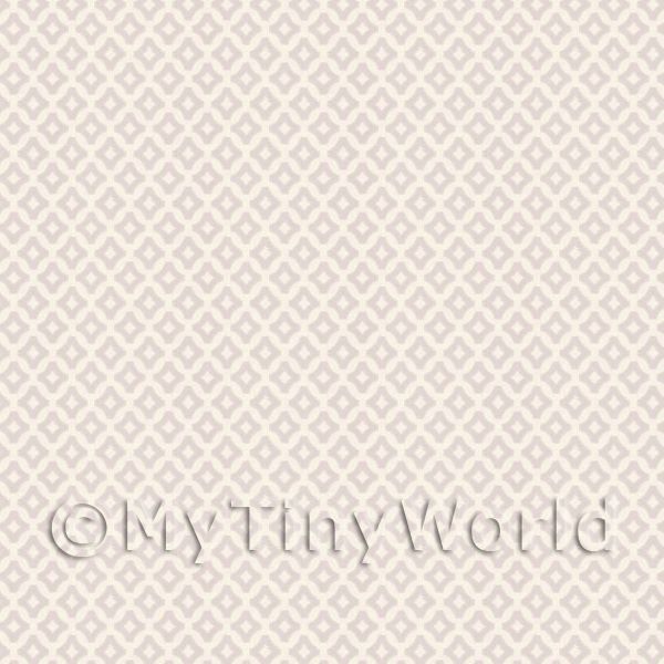 1/12 Scale Dolls House Miniatures  | Dolls House Miniature Small Pale Beige Diamond Wallpaper