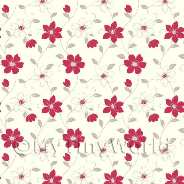 Dolls House Miniature Wallpaper