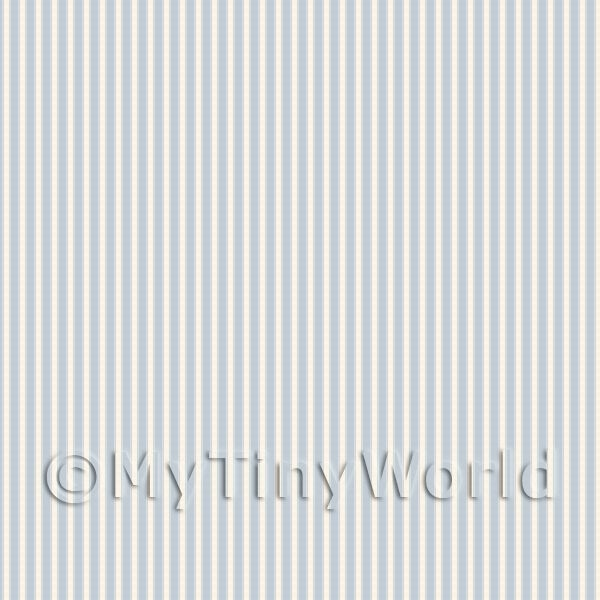 Dolls House Miniature Pale Grey Thin Striped Wallpaper