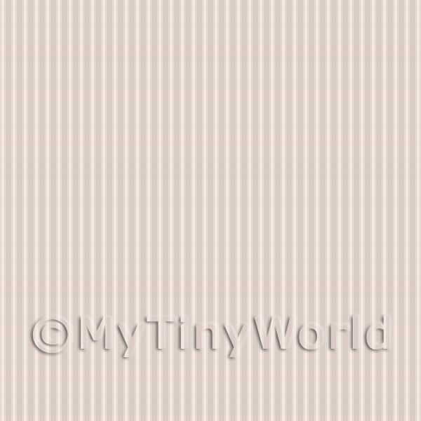 Dolls House Miniature Pale Beige Thin Striped Wallpaper