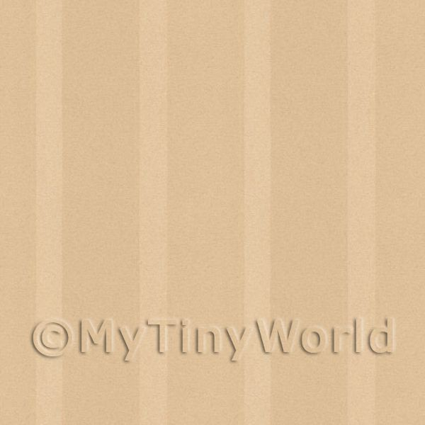 Dolls House Miniature Thick Beige Striped Wallpaper