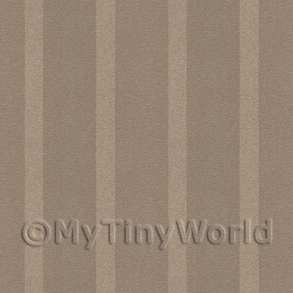 Dolls House Miniature Thick Chocolate Striped Wallpaper