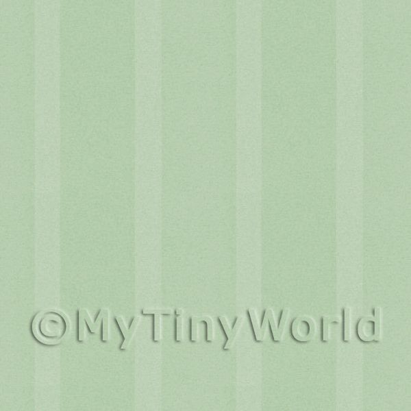 Dolls House Miniature Thick Pale Green Striped Wallpaper