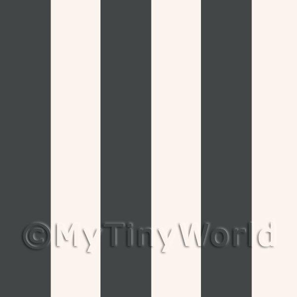 dolls house miniature thick dark grey striped wallpaper