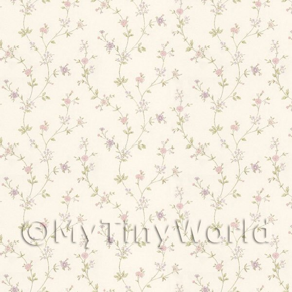 Dolls House Miniature Wallpaper Dolls House Tiny Pastel Pink And