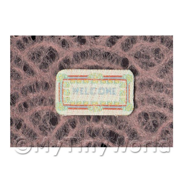 Dolls House Miniature  | Dolls House Modern Welcome Mat (WM2)