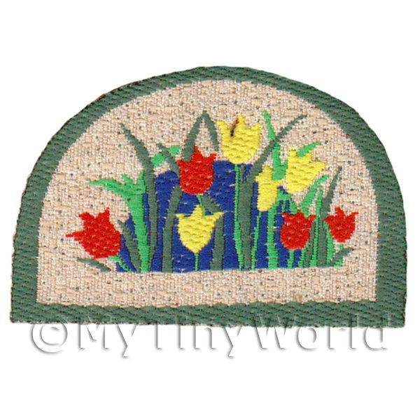 Dolls House 45mm Tulip Half Moon Welcome Mat (WM15)
