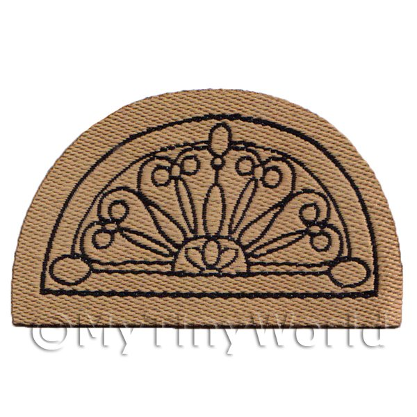 Dolls House Miniature 60mm Half Moon Ornate Welcome Mat (NW5)