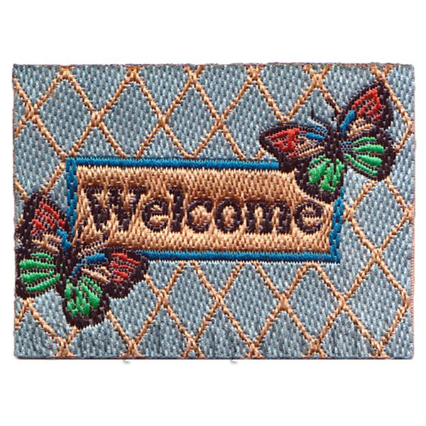 Dolls House Miniature 52mm Butterfly Welcome Mat (NW7)