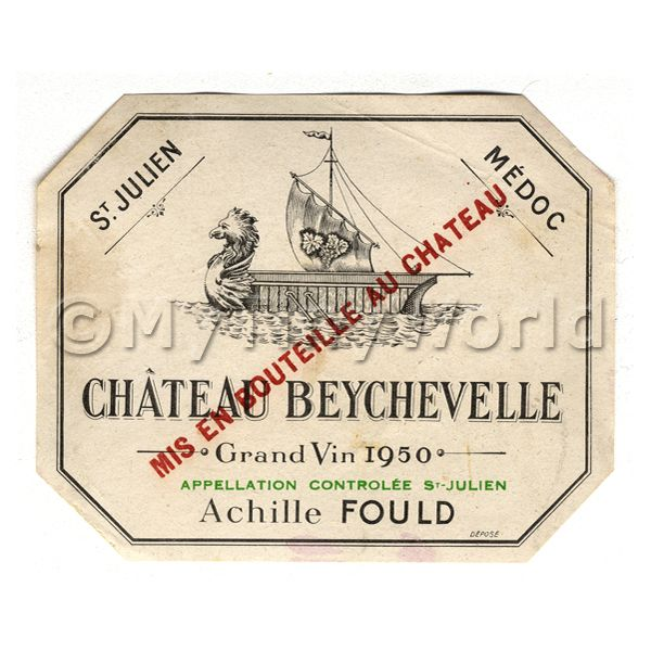 French white wine dolls house miniature mytinyworld for Classic house labels
