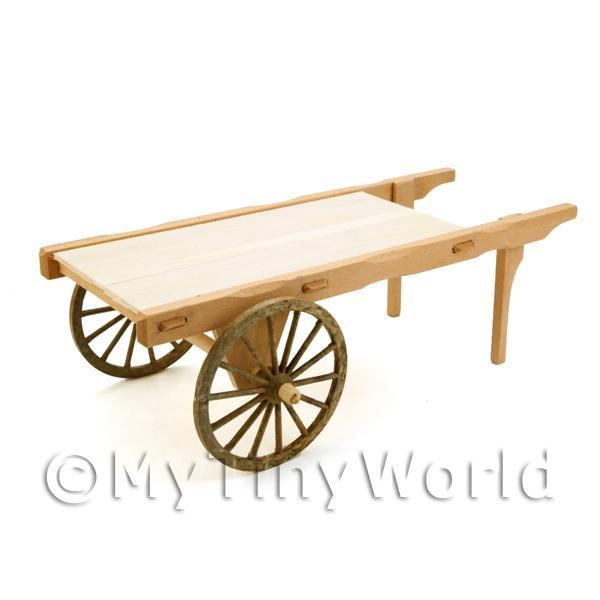Dolls House Miniature  | Dolls House Miniature Handmade Plain Wood Market Cart