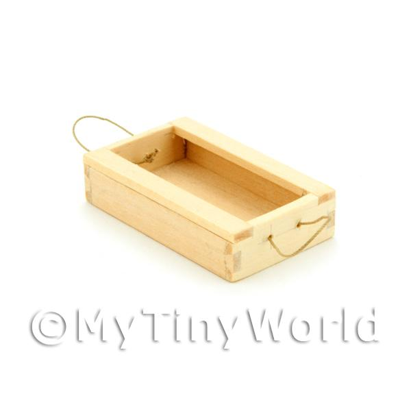 Dolls House Miniature Wood Fish Crate