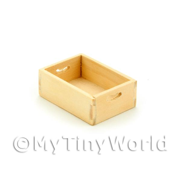 Dolls House Miniature White Wood Small Bottle Crate