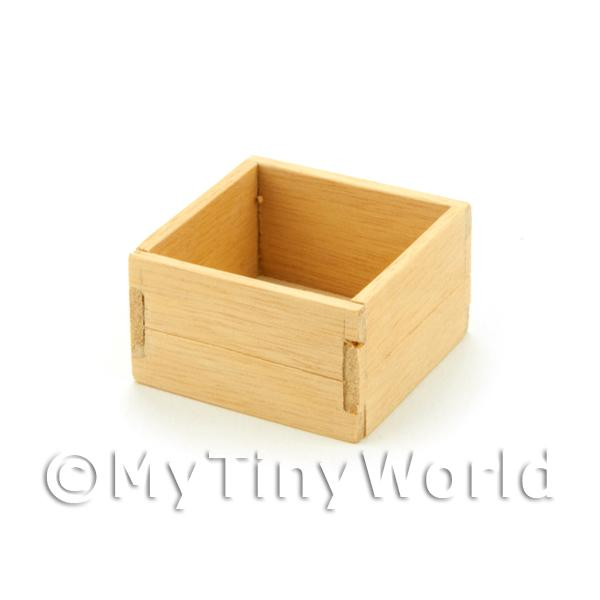 Dolls House Small Square Wooden Open Shop Stock Box