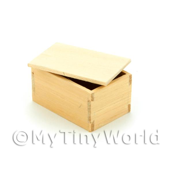 Dolls House Large Wood Shop Stock Box With Lid