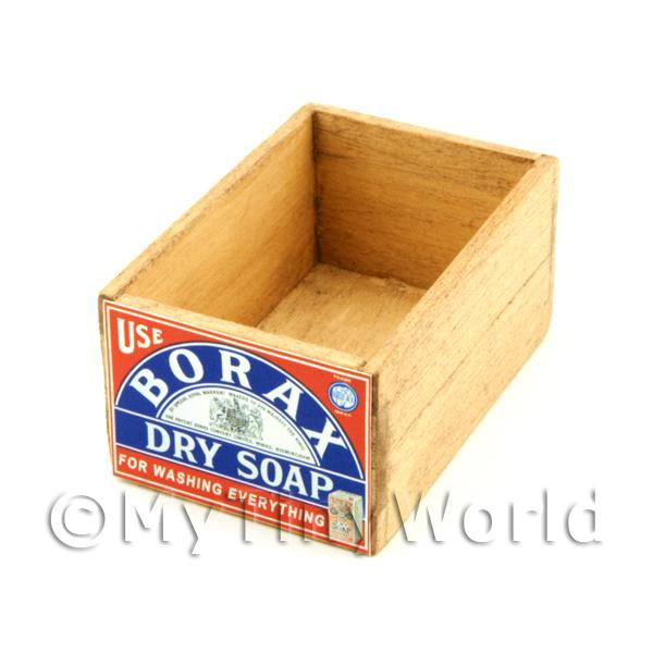 Dolls House Miniature  | Dolls House Borax Wooden Shop Stock Box