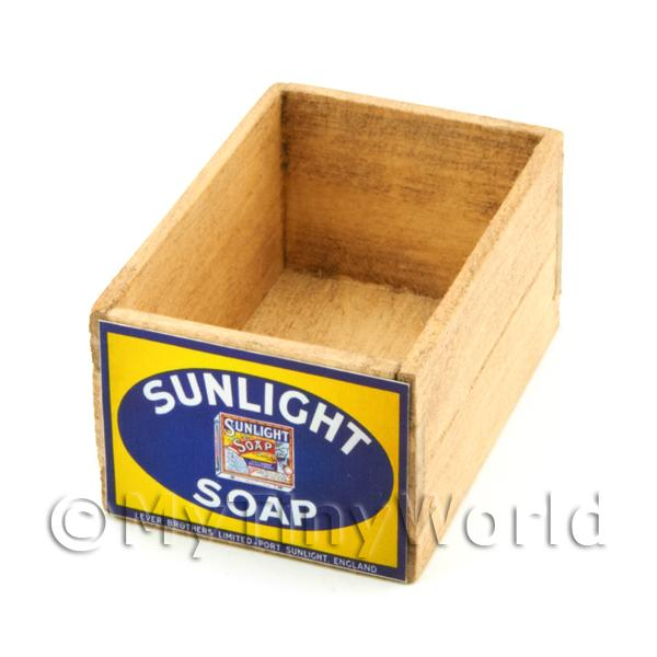 Dolls House Miniature  | Dolls House Sunlight Soap Wood Shop Stock Box