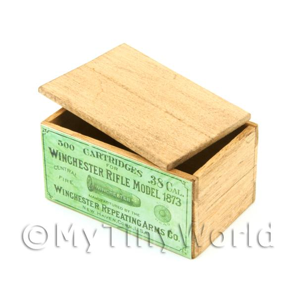 Dolls House Winchester Shells Wood Shop Stock Box
