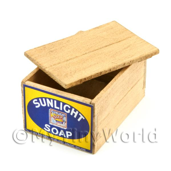 Dolls House Miniature  | Dolls House Sunlight Soap Lidded Wood Shop Stock Box