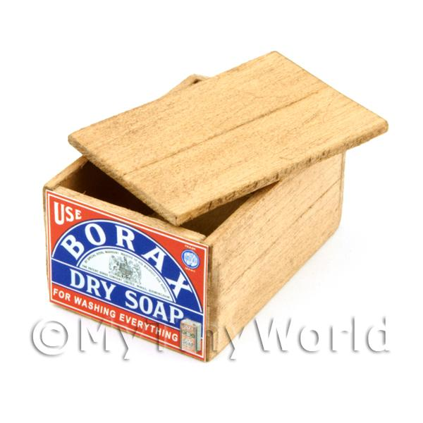 Dolls House Borax Dry Soap Lidded Wood Shop Stock Box