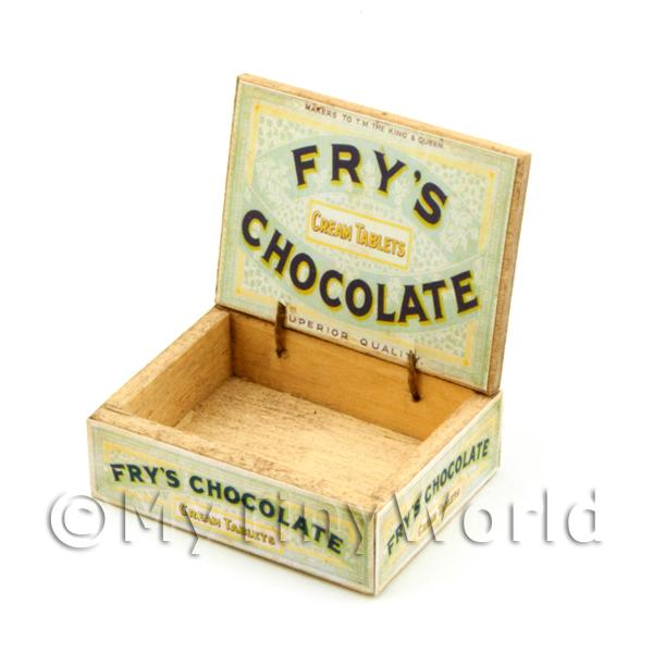 Dolls House White Frys Chocolate Counter Display Box