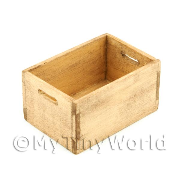 Dolls House Miniature Aged Wood Large Bottle Crate
