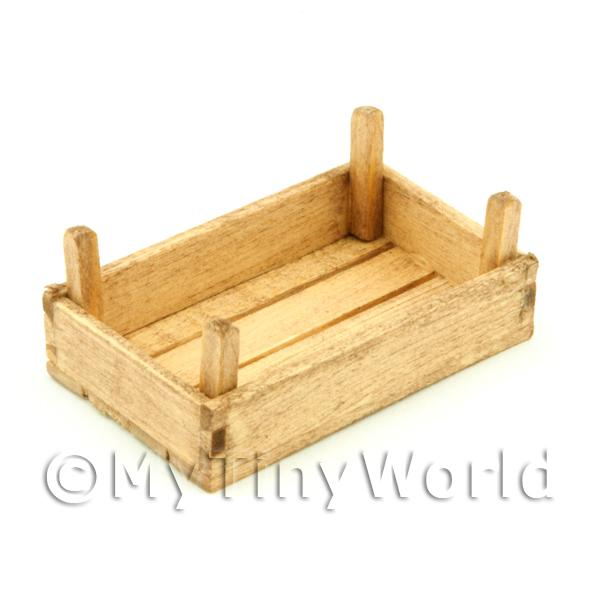 Dolls House Miniature Small Aged Wood Vegetable Crate