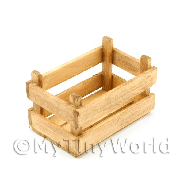 Dolls House Miniature  | Dolls House Miniature Large Aged Slatted Wood Vegetable Crate