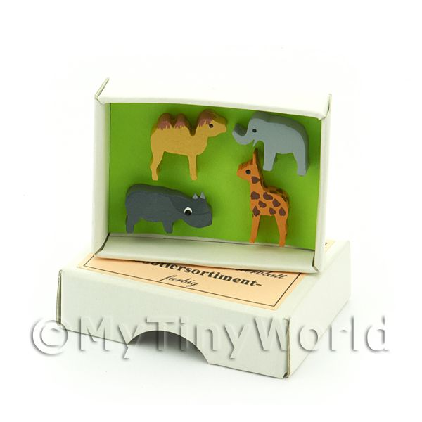 Dolls House Miniature Wild Animal Wall Chart