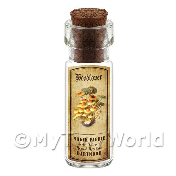 Dolls House Miniature  | Dolls House Apothecary Woodlover Fungi Bottle And Colour Label