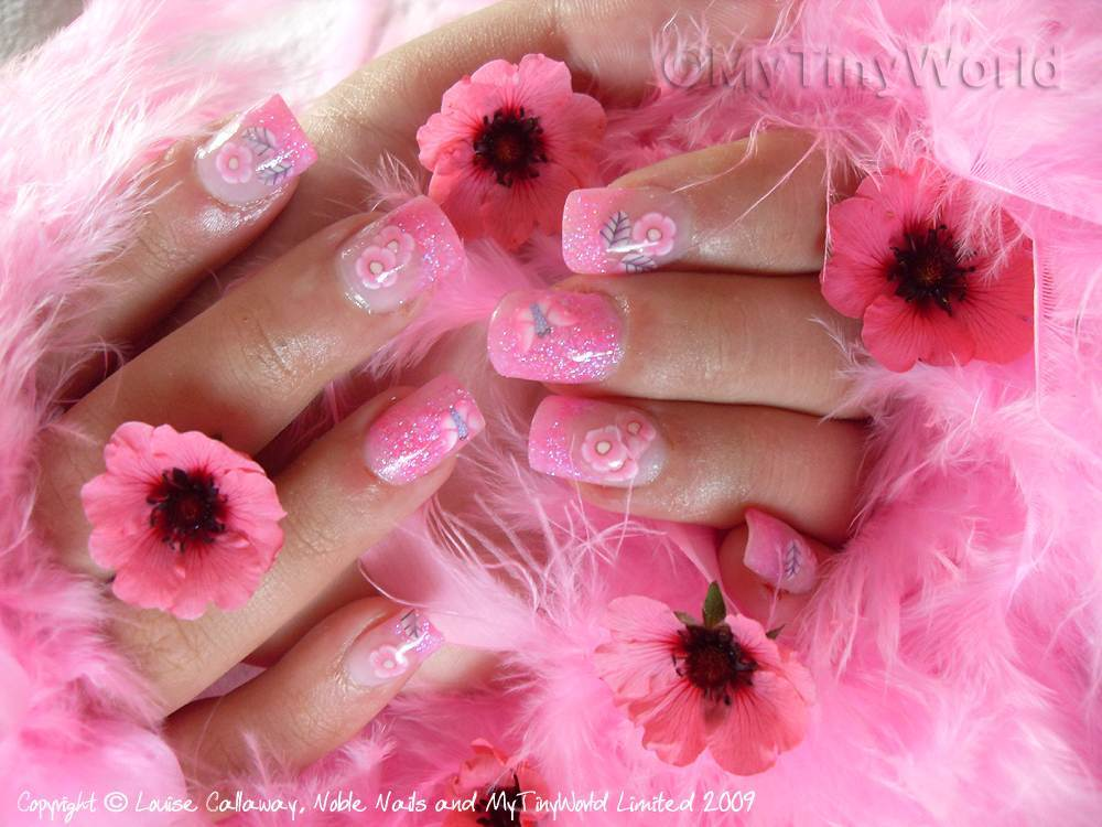 Hot Pink Acrylic Nail Designs | Best Nail Design & ART 2015