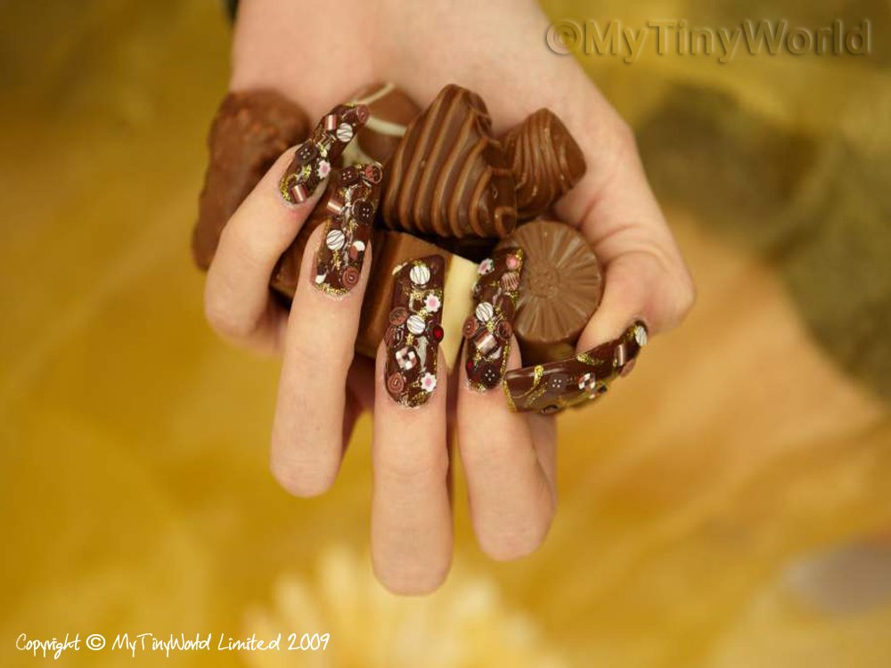Nail Art Picture - Chocolates