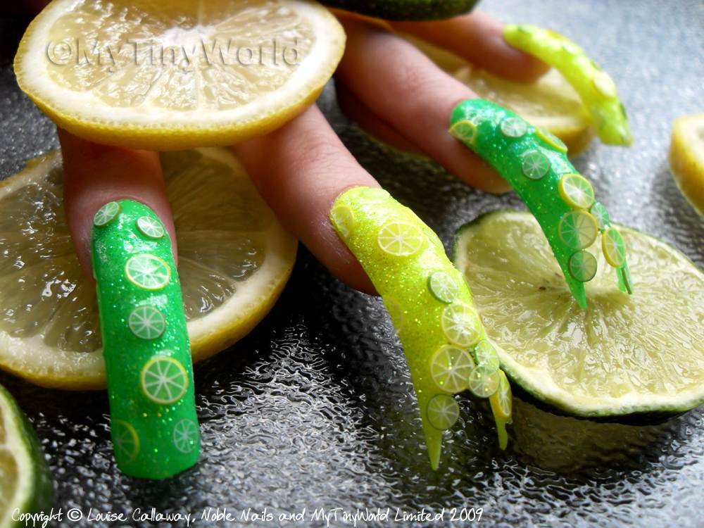 Nail Art Picture - Lemon and Lime