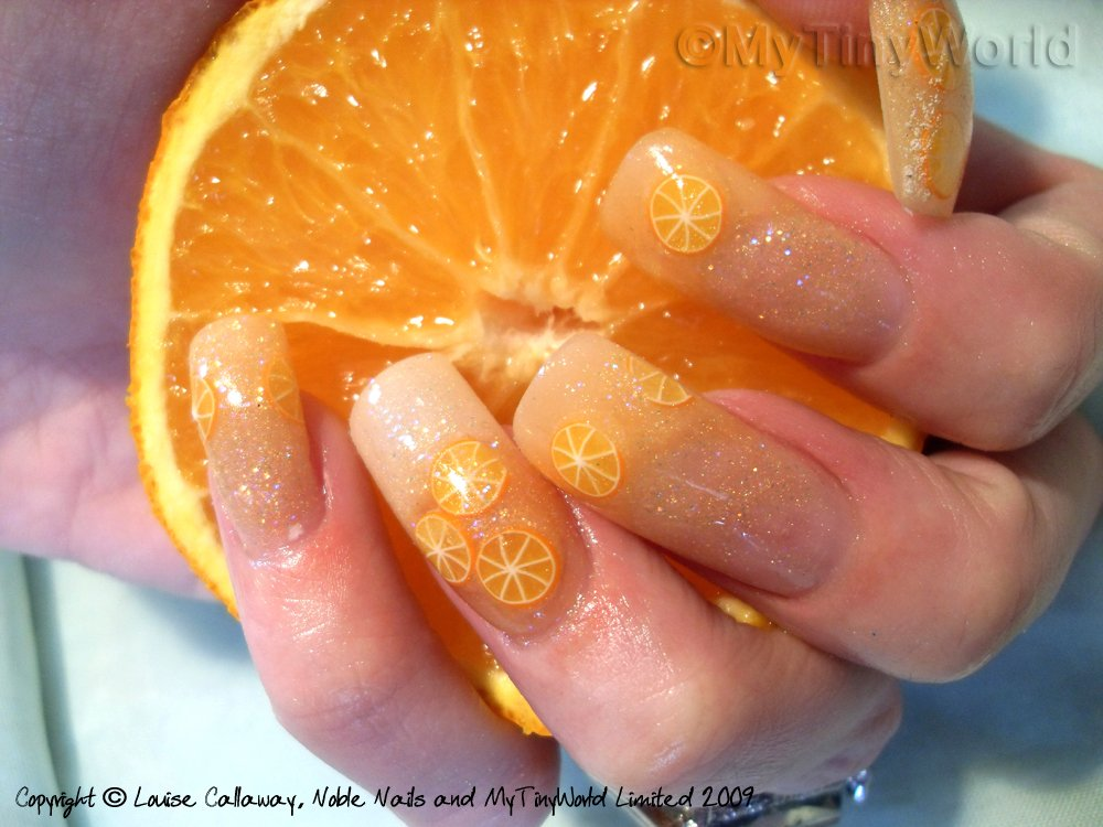 Nail Art Picture - Juicy Orange