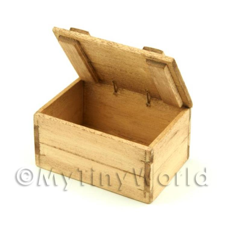 Handmade In The UK Plain Wood Dolls House Miniature Crates